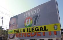 Lío en Soledad por valla censurada a Benedetti