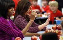 Michelle Obama, contra la comida chatarra