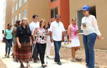 Primeras 100 casas en Las Cayenas se entregarán a finales de mayo, afirma alcaldesa