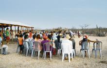 La comunidad volvió a reun irse entorno a la yonna, baile típico wayuu conocido también como chicha maya.