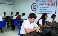 En la IED Inociencia Chincá fue puesto al servicio el primer Punto Vive Digital Plus.