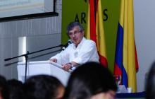 Juan Martín Caicedo, presidente de la CCI, durante su participación en el encuentro del gremio.
