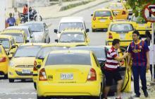 Esta vez fueron contratados más taxis y menos buses