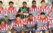 El equipo inicialista del Junior de Barranquilla en el partido contra el América de Cali, el 19 de diciembre de 1993.
