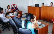 Víctor Pacheco Restrepo en una de las audiencias por el caso Campo Alegre.