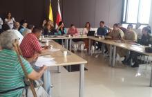 Imagen de la reunión de la Comisión Departamental Electoral, en la Gobernación.