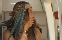 Beyonce luce el Apple Watch de Oro de 30,000 dólares.