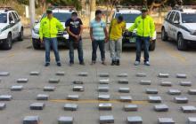 La droga y los sospechosos detenidos en la Circunvalar.