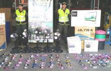 Policía Aduanera decomisa productos por valor de $154 millones, en C.C. el Río