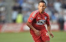 El delantero barranquillero Michael Barrios, uno de los colombianos que brilla en el fútbol de la MLS.