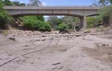 El río Ranchería, a 5 kilómetros de Riohacha.