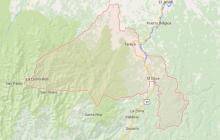 Imagen del municipio de Tarazá, tomada de Google Maps