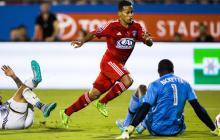 Michael Barrios en el gol.