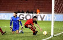 Bernardo Cuesta, autor de dos de los cuatro goles de FBC Melgar frente a Junior.