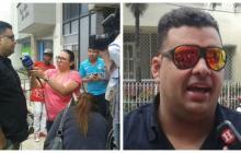 Rolando Ochoa visita a su padre Calixto en la clínica