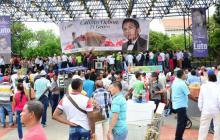 Romería en despedida de Calixto Ochoa en Valledupar
