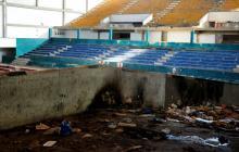 Así luce el Coliseo Humberto Perea, escenario que se convirtió en una caverna de basuras. La idea es reconstruirlo para los Juegos Centroamericanos y del Caribe.