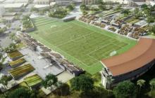Alcaldesa oficializa diseño del nuevo estadio Romelio Martínez