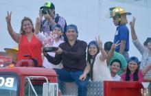 Gran recibimiento en Riohacha a Luis Mario, ganador de La Voz Kids