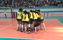 La selección femenina de voleibol de Colombia.