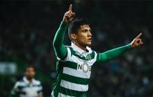 Fredy Montero anota en el triunfo del Sporting ante el Braga