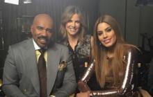 Ariadna Gutiérrez y Steve Harvey graban entrevista para Today Show
