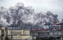 Enorme fuga de gas alcanza el mayor puerto de Brasil