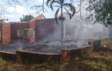 Así quedó la casa tras la conflagración.