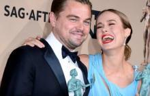 Leonardo DiCaprio y Brie Larson ganan como mejores actores en los Premios SAG