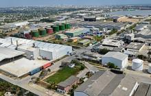 Panorámica de las instalaciones de la Zona Franca de Barranquilla.