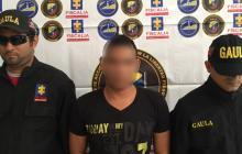 El sospechoso capturado a finales de enero pasado por 'sexting', entre funcionarios del CTI y del Gaula.