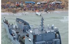 El buque 'Golfo de Urabá' navegó desde Cartagena hasta Manaure, La Guajira.