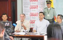 Rueda de prensa en la que anunciaron la entrega de las ayudas para los wayuu.