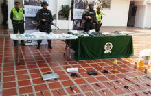 Entre los elementos la Policía incautó más de 7 millones de pesos en efectivo.