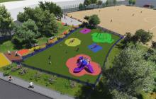 Inicia construcción de cancha y parque en barrio Las Palmas