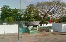 Estación de Policía de Curumaní, Cesar, de donde se fugaron cuatro detenidos.