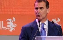 El rey Felipe de Borbón participó en la sesión inaugural del congreso de la lengua.