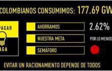 """""""Colombianos ahorramos 2,62% de energía, el sábado"""": Santos"""