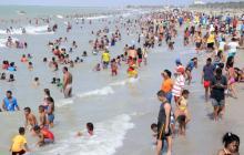 Playa de Riohacha, una de la más visitada en Semana Santa