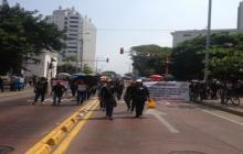 Protesta de madres comunitarias se toma el Centro Histórico de Cartagena
