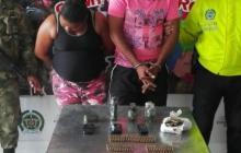 Los capturados alias la Negra y alias Chichito.