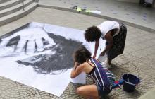Con arte público rechazan acoso sexual callejero
