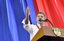 El presidente Santos ayer en Cali, en donde asistió a diferentes actos.