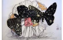 'Gravitonal', de Pablo Osorio, es una obra de técnica mixta que utiliza madera, papel, monotipos e icopor.
