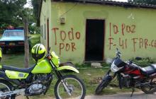 Pintan mensaje alusivo a las Farc en Santa Isabel, un caserío de Chiriguaná