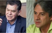 El senador Jaime Amín y el director de la Fundación Paz y Reconciliación, León Valencia.