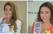 Diana Giraldo, representante de Quindío. Lena Sereen Diab, representante de EEUU.