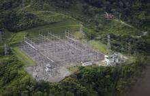 Imagen aérea de la hidroeléctrica de Guatapé.