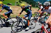 Quintana durante la 17ª etapa del Tour de Francia.