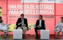 Jaime Abello Banfi, director de la Fundación Nuevo Periodismo Iberoamericano (FNPI), durante el lanzamiento del festival, en el Jardín Botánico de Medellín.